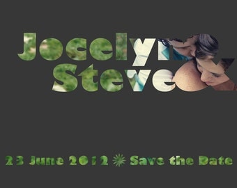 Cutout Save the Date Digital Files (Two Sided for MOO or Vistaprint Templates)