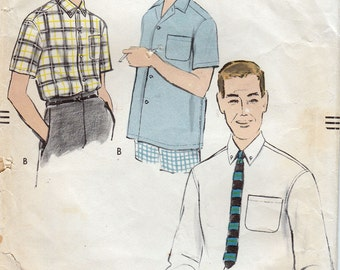 Vintage Vogue 9287 Men's Sport Shirt Sewing Pattern