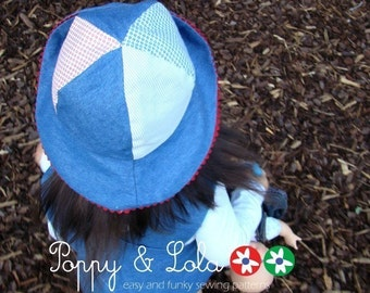 instant - download Reversible Hat PDF Sewing Email Pattern