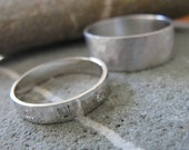 14k white Gold Rings - His and Hers set