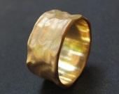 Gold Wedding Ring - Wedding Band - Gold Ring - Organic Wedding Ring made of 14K Gold