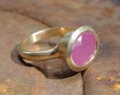 Ring - 14k Gold & Ruby Gemstone Ring