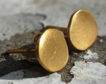 Gold Stud Earrings , 24K Gold plated Studs , Post Earrings , Gold Plated Earrings , Gold Posts , Handmade Stud Earrings