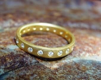 Anniversary Ring , Eternity Wedding Band , Full Eternity Band , Diamond Eternity Ring , Promise Ring , Anniversary Gold Ring , Diamonds Ring