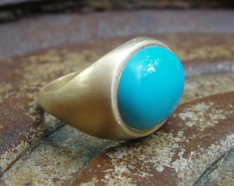14k Gold Ring and Turquoise
