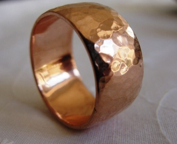 Amato Martellato Wedding Band anello di nozze d'oro rosso CO98