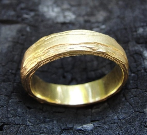 Unique Wedding Ring , Texture Wedding Ring , Unique Wedding Band , Gold Wedding Band , Handmade Wedding Ring , Unisex Wedding Ring