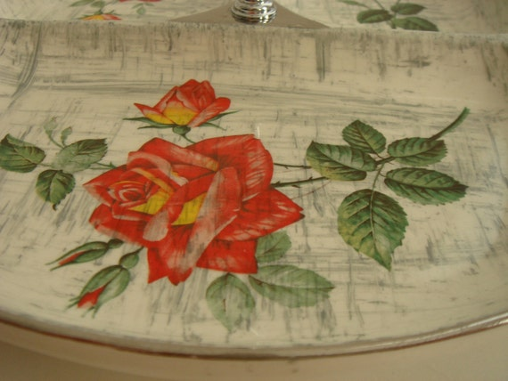 stylecraft midwinter staffordshire rose serving dish - made in england