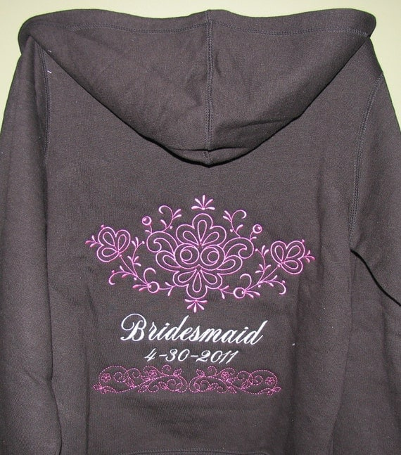 Reserved for Tedys4U SIX  LADIES fit Personalized Wedding Sweatshirt - Personalized JUST for you