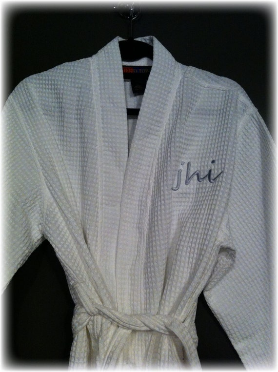 Mid-Calf Length Waffle Weave Kimono Robe - Personalized just for YOU, Great for the wedding day!  Perfect for the spa.  UNISEX fit