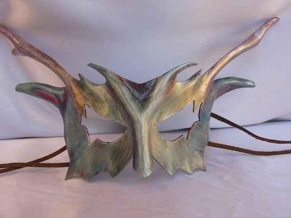 Coral Dragon - leather mask