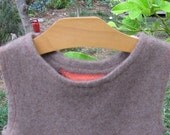 Chocolate brown cashmere A-line toddler dress  3T to 4T