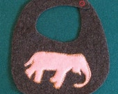 Custom Felted Wool Bibs with  Animal Appliques for Sara