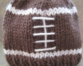 Brown Football Beanie for Baby:  Newborn or 3 - 6 Months
