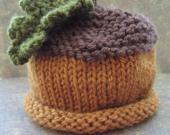 Acorn Hat for Baby: Newborn, 3 - 6 Months, or 6 - 12 Months READY TO SHIP