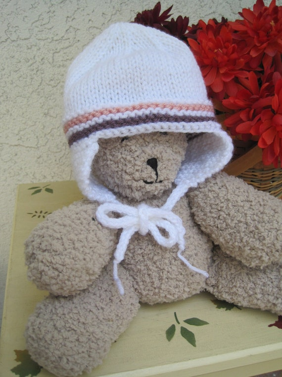 Ear Flap Hat for Baby: 3- 6 Months (Other sizes available)