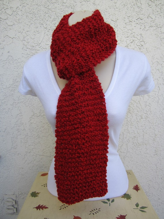 Original Cozy Comfort Scarf in Candy Apple (Red)