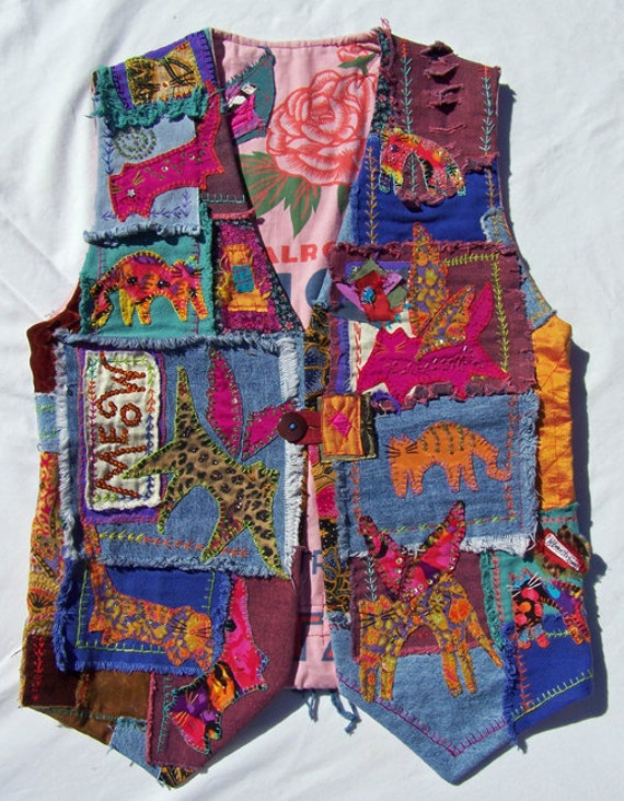 Catwings MEOW VEST by Red Hot Kitties Art