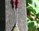 Dragon Blood Jasper necklace