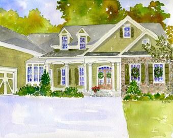 Custom Watercolor Home Illustrations