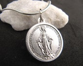 Miraculous Medal Necklace with Prayer
