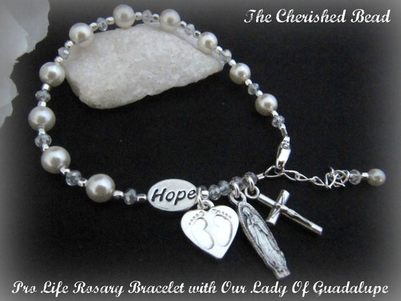 Custom Listing Only For Kathy Pro Life Catholic Pearl Rosary