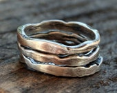 Sterling Silver Three Piece Ring