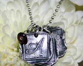 Mothers Necklace Initial Waxing Poetic Style Sterling Silver