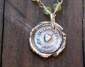 Sterling Seal Stamped  Necklace