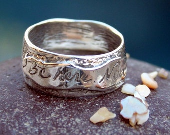 """Ring Present Reminder Artisan Handcrafted Sterling """"Be Here Now"""" Ring"""