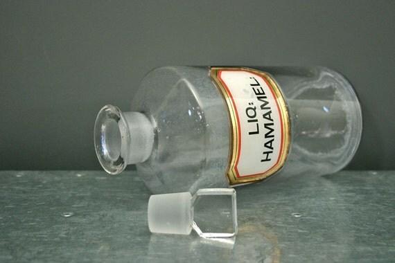 Large Antique English Glass Apothecary Bottle