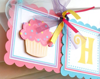 Cupcake Cutie, Birthday Banner