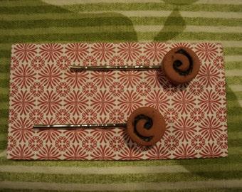 clay bobby pins