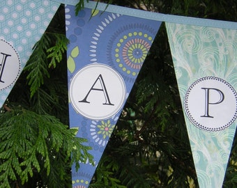 Happy Anniversary Banner Party Decoration / Garland /  Bunting / Pennant
