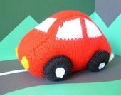 Charlie Car Knitted Toy Pattern PDF