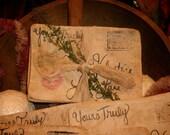 3 Primitive Valentines Love Letter Bowl Fillers