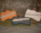 3 Primitive Pumpkin Shelf Sitters Harvest Autumn Fall Thyme