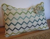 RESERVED FOR PAPERDOLLACCESORIES  Zig Zag Blossom Pillow