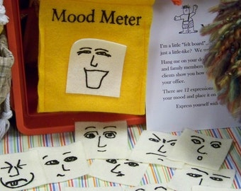 Mood Meter Toys  Play Therapy tools  Doll  Puppet  Mood O Meter  Color Me Silly