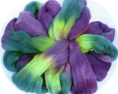 Polwarth/Silk  Combed Top 4 Oz. Elegant Eggplant