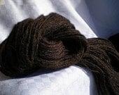 Handspun Black Llama Yarn