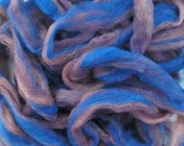 """Hand Dyed Wool Roving for Needle Felting or Spinning  """"Twilight""""  2oz."""