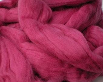 "Ashland Bay Solid Colored Merino for Spinning or Felting ""Fuchsia""  4 oz."