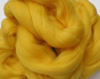 "Ashland Bay Solid Colored Merino for Spinning or Felting ""Lemon""  4 oz."