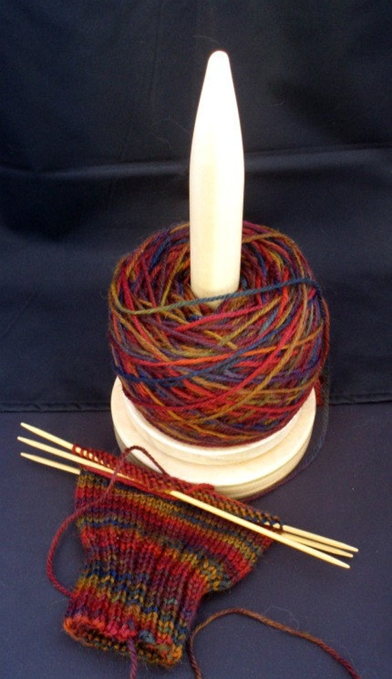 Knitter's Carousel with Natural Finish
