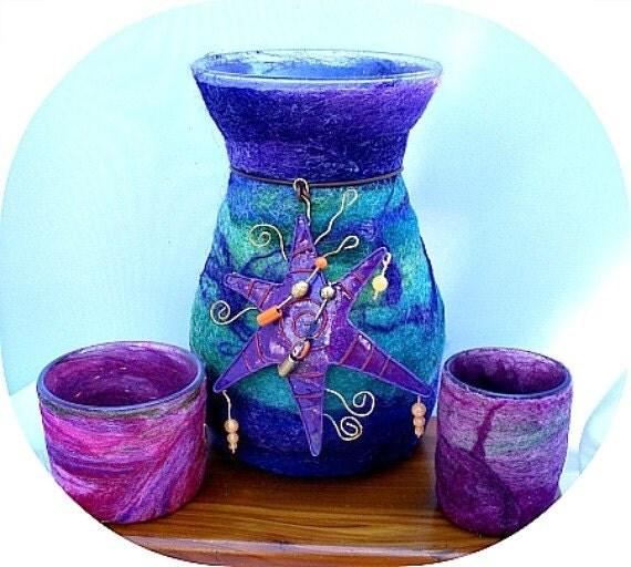 Felted  Vase Tutorial