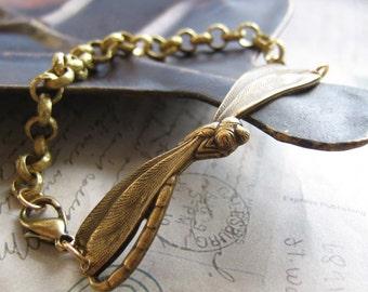Brass-Dragonfly  Bracelet