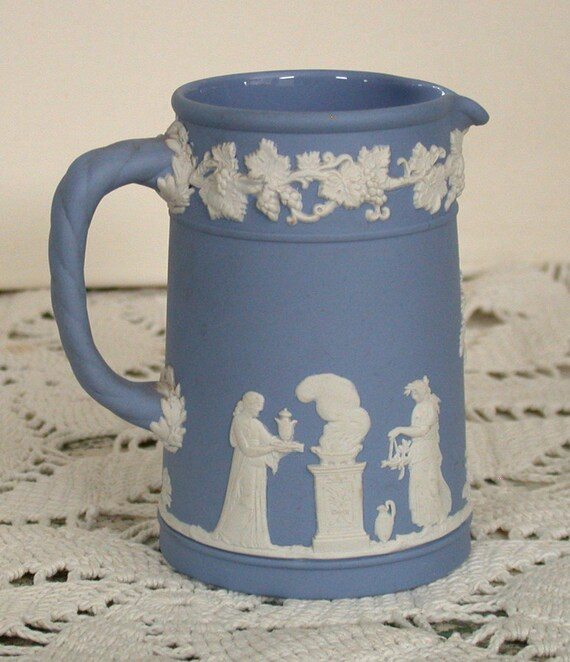 Wedgewood Blue Jasperware Pitcher or Creamer