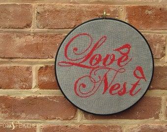 Love Nest PDF Cross Stitch Pattern