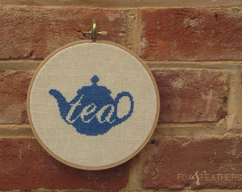 Teapot Love PDF Cross Stitch Pattern